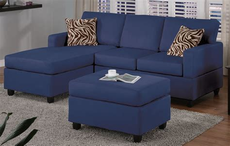 f7667 navy blue sectional sofa set by poundex