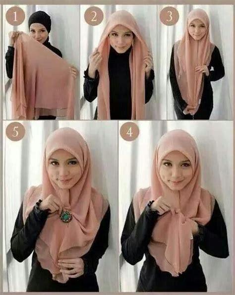 tutorial jilbab pashmina purple styles by ellen best ideas about style hijab hijab chic and hijab styles