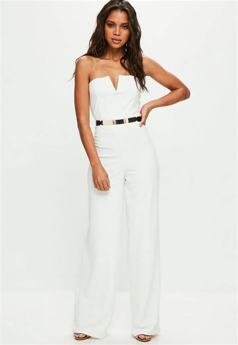 Plain Wide Leg Jumper white bandeau wide leg jumpsuit missguided