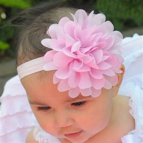 newborn baby headband bows lace flower children lovely baby infant toddler headband lace flower bow