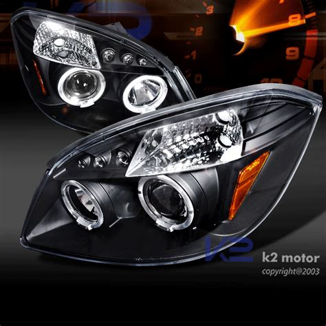 Led Projector Motor 05 10 chevy cobalt halo led projector headlights black