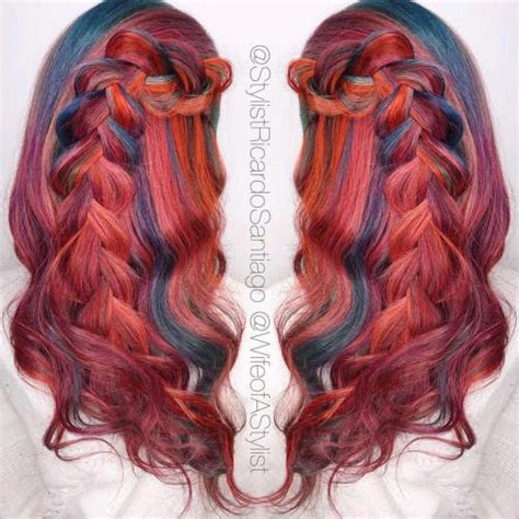 red hair with blue highlights 20 bright red hairstyles that sizzle