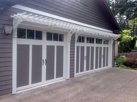 Garage Door Pergola by Three Door Garage Pergola Design Ideas Pictures