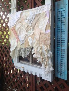 curtain ringlets details about vintage lace window valance shabby chic