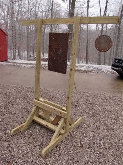 swinging target plans homemade target stand for long distance steel
