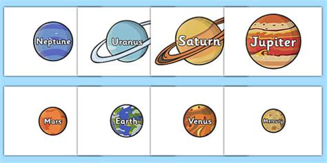 Planet Names by The Planet Names Words On Planets Plant Space Space