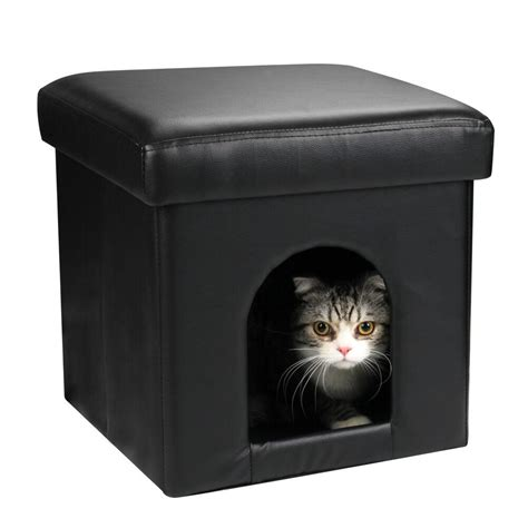 cat ottoman collapsible pet ottoman house black ottoman dog bed or