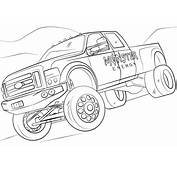 Free Coloring Pages Monster Energy Trucks Big Truck