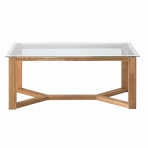 vale furnishers vale oak glass top coffee table