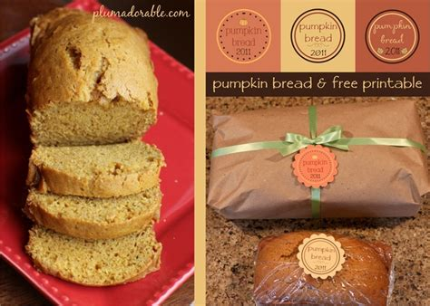 printable pumpkin recipes pumpkin bread recipe and printable label fall ideas