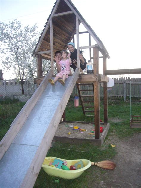 diy backyard slide diy project playhouse with slide diy crafts decoupage