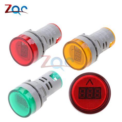 Best Product Pilot L Ad16 22 Ac 220 Volt aliexpress buy 22mm ad16 type ac60 500v mini voltage meter led digital display ac