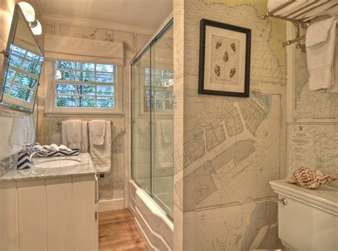 World map wallpaper vintage bathroom kathleen dipaolo designs
