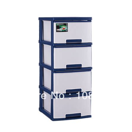 Plastic Four Drawer Storage Cabinet by 13x17x34 Inches Wide Cart Drawer Cabinet With 4 Layers