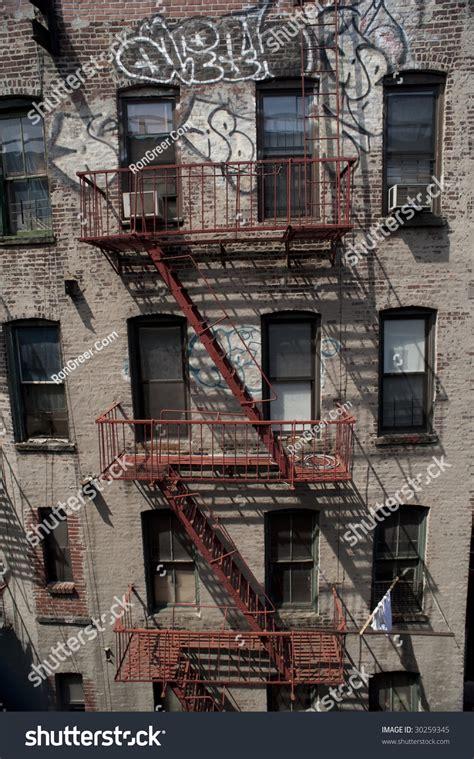 Apartment Building Fire Escape Ladder