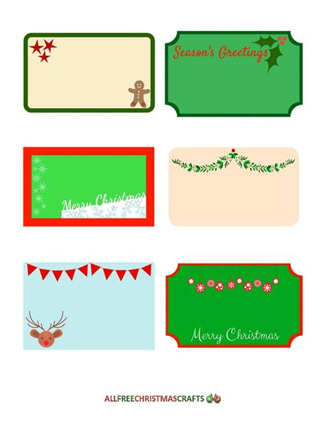 printable gift tags large assortment of free printable labels for christmas
