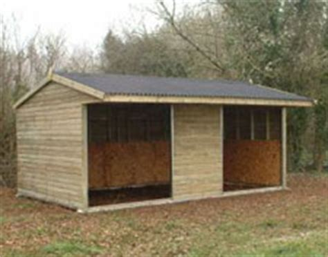 20x12 Shed by Field Shelters From Burnetts Sheds