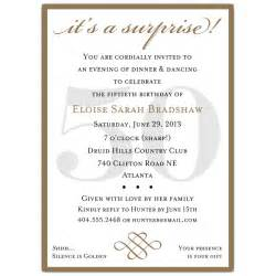 classic 50th birthday gold invitations paperstyle