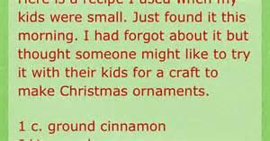 Holiday Arts And Crafts For Kids - no bake cinnamon ornaments arts n crafts pinterest cinnamon ornaments cinnamon and ornament