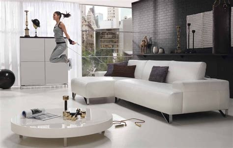 15 Awesome White Living Room Furniture For Your Living Space Living Room Ideas With White Leather Sofa