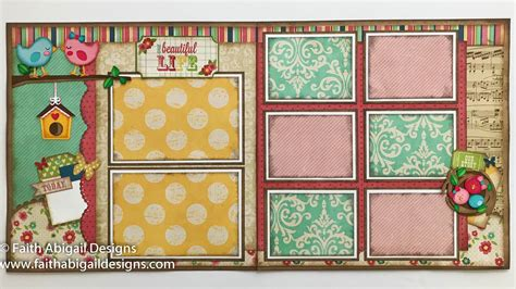 layout blueprints scrapbook our beautiful life 12 x12 double page scrapbook layout