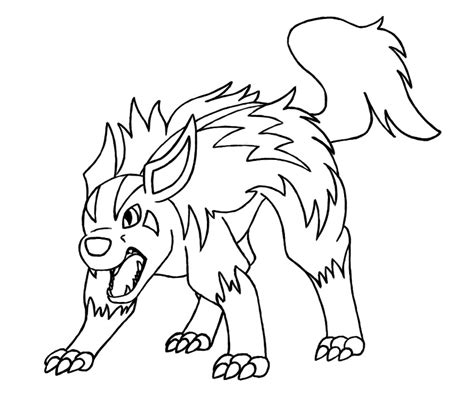 pokemon coloring pages poochyena pokemon collab mightyena by erijel on deviantart
