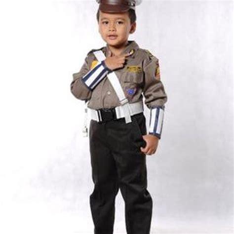 jual baju polisi anak setelan komplit seragam polisi