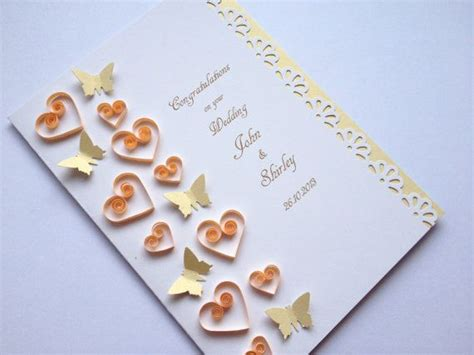 Handmade Paper Wedding Cards - 198 best quilling hearts images on quilling