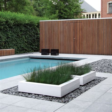 modern pool cube planter 06606 modern pool other metro by usona
