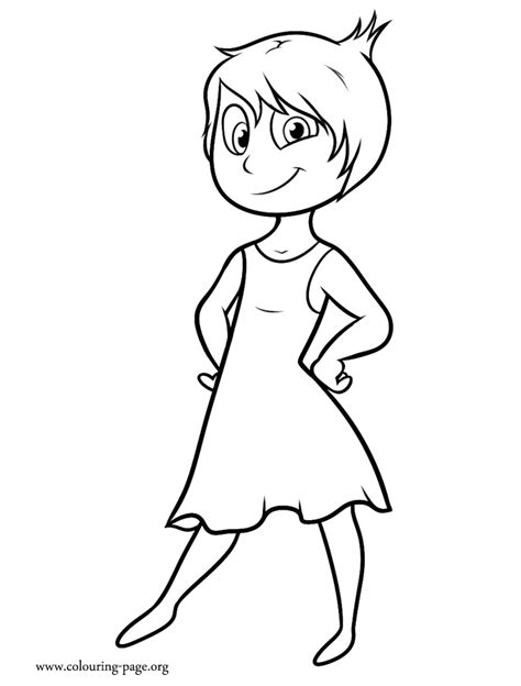coloring pages for joy inside out joy coloring page