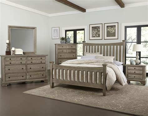 gray washed bedroom furniture bedford washed gray oak panel bed non storage beds