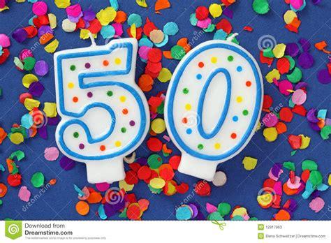 imagenes de cumpleaños numero 50 n 250 mero vela de cincuenta cumplea 241 os fotos de archivo