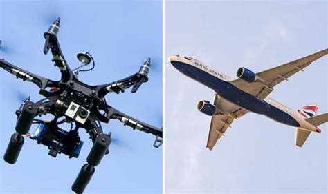 drone plane with airways plane faced crash drone flies within 10