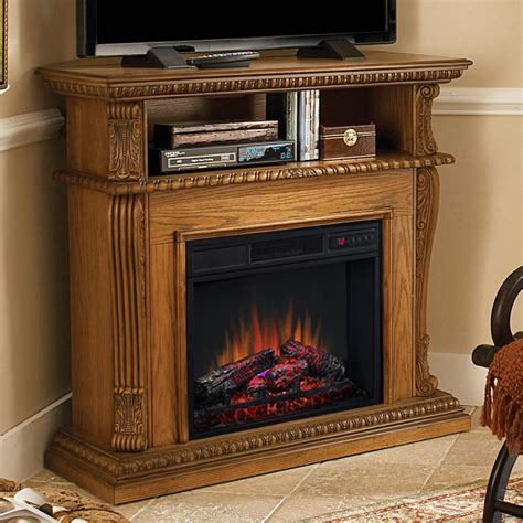 corner cabinet electric fireplace corinth 23 quot premium oak electric fireplace cabinet corner