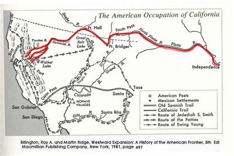 california trail us map california trail