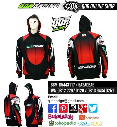 Jersey Drag Race Dkh jaket hoodie drag race qdr racing 02 magenta bahan