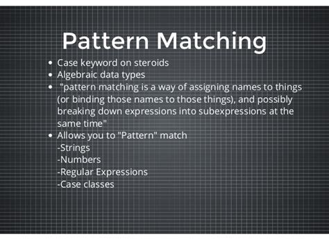 regex pattern matching scala scala in a nutshell