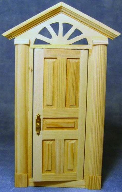 wooden skylight front door 1 12 scale by dolls house
