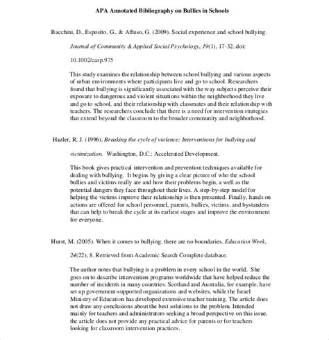 Annotated Bibliography Apa 7th Edition Free Bibliography Template