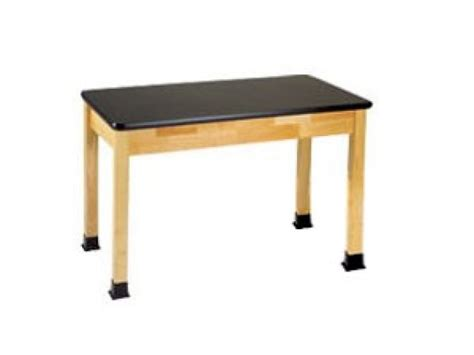 science lab table with epoxy resin top 48x24x36 quot h lab tables