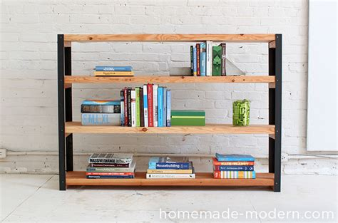 Homemade Modern Ep36 Ironbound Bookcase Cheap Sturdy Bookshelves