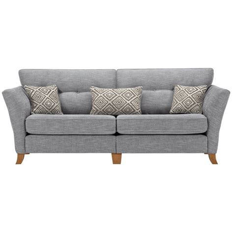 Grosvenor Sofa by Grosvenor Traditional 4 Seater Sofa In Blue With Silver
