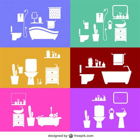 bathroom vector design templates vector free download