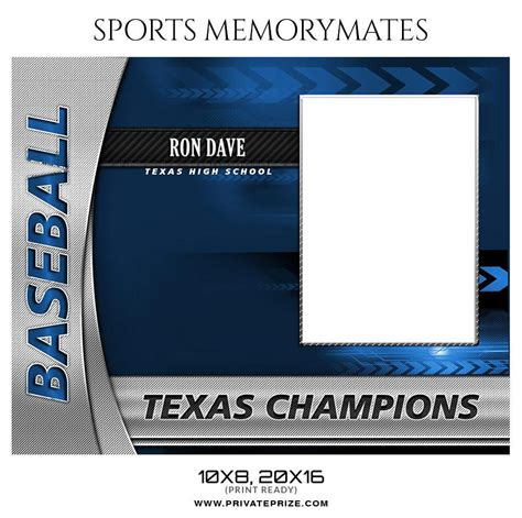 memory mate templates for photoshop ron dave baseball sports memory mate photoshop template