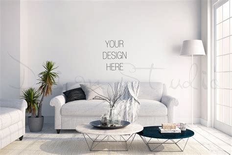 photography wall art home decor styled stock photography living room blank wall photography