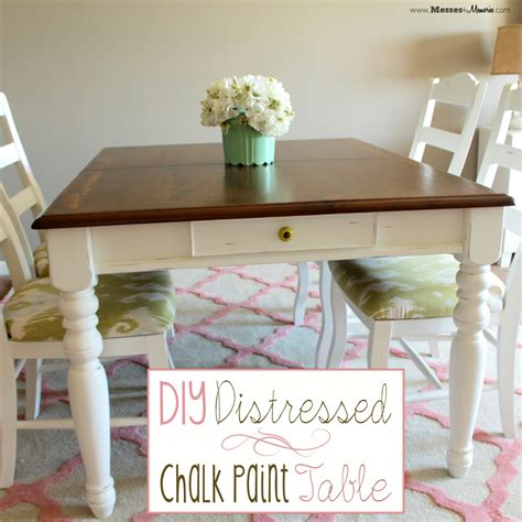 how to do chalk paint diy diy distressed chalk paint table