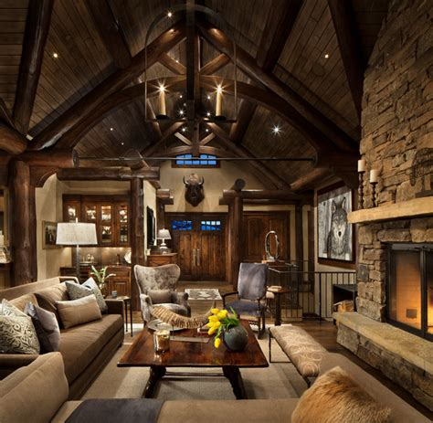 Rental House Plans by Mountain Home Remodel Rustic Living Room Other Metro