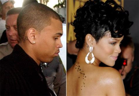 chris brown and rihanna matching hand tattoos matching ink tat s one bad idea ny daily news