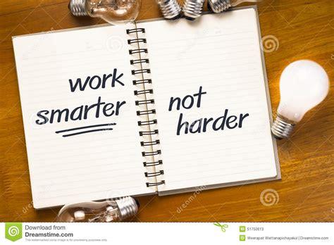 work smart stock photo image