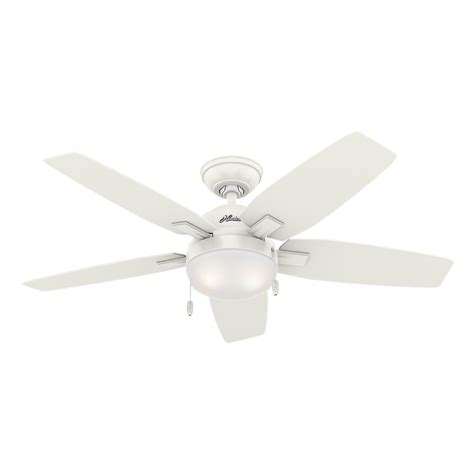 hunter antero fan 54 hunter antero 46 in led indoor fresh white ceiling fan